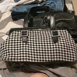 Rare Valerie Stevens houndstooth purse